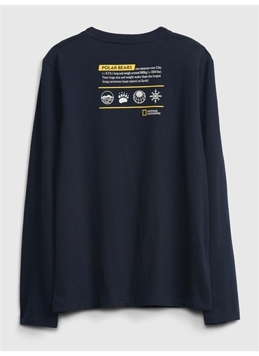 Gap National Geographic Grafik T-Shirt Lacivert